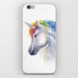 Rainbow Unicorn Watercolor iPhone Skin