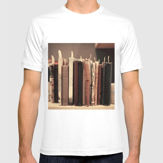 Old Books (brown) T-shirt