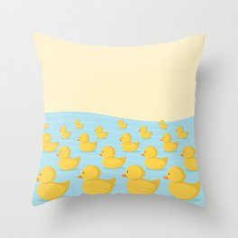 Rubber Duckie Army Throw Pillow