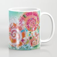 narnia Mugs featuring Surf Wave Somewhere in Narnia by ArtSeriously