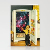 eugenia loli Stationery Cards featuring No More Galaxies for Today, Timmy! by Eugenia Loli