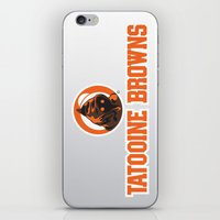 nfl iPhone & iPod Skins featuring Tattooine Browns - NFL by Steven Klock