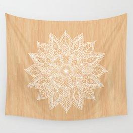Leaf mandala - wood Wall Tapestry