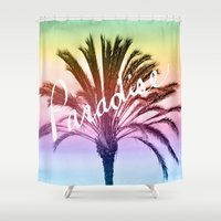 paradise Shower Curtains featuring Paradise  by Lisa Argyropoulos