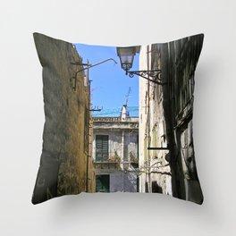 Antique Alley - Palermo - Sicily Throw Pillow