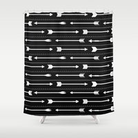 arrows Shower Curtains featuring Arrows by Hipster
