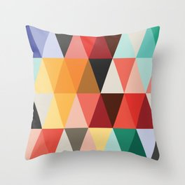 Mid-Century Modern Color Story Throw Pillow