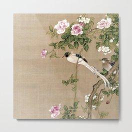 Flowers and Birds II Metal Print