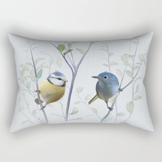 2 birds in tree Rectangular Pillow