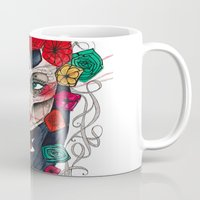 mexican Mugs featuring Mexican SK by LucreziaU's Illustration