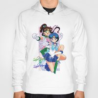 sailor jupiter Hoodies featuring Sailor Mercury and Sailor Jupiter by Neo Crystal Tokyo