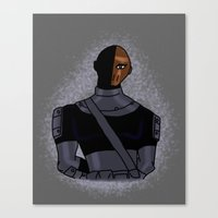 deathstroke Canvas Prints featuring DC: Glitter Slade by aka-noodle