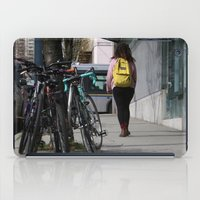 backpack iPad Cases featuring Bikes and backpack by RMK Photography