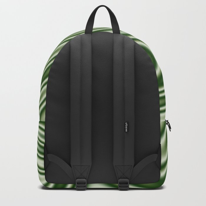 Spearmint Ribbon Candy Fractal Backpack