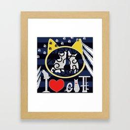 "KARAKUSA CAT'S ""I LOVE CAT"" Framed Art Print"