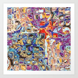 Abstract Glass Blocks Art Print
