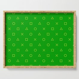 Green Gamer Pattern Serving Tray