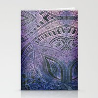paisley Stationery Cards featuring Paisley by Avalon Corvus