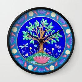 Tree of Love July Mandala Wall Clock