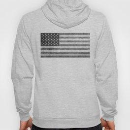 USA flag - Grayscale high quality image Hoody