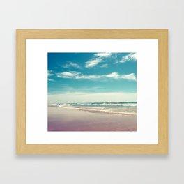 The swimmer Framed Art Print