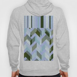 Chevron Blue Chalk Stripes Hoody