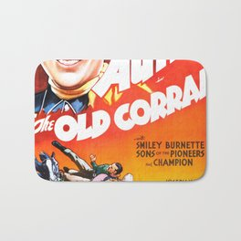 Vintage poster - The Old Corral Bath Mat