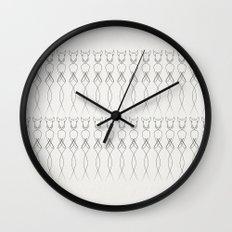 One line nude Wall Clock