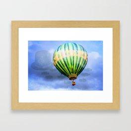 Floating through clouds of shamrocks Framed Art Print