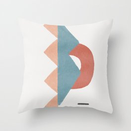Dividing with magnets Throw Pillow