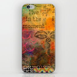 Live in the Moment iPhone Skin