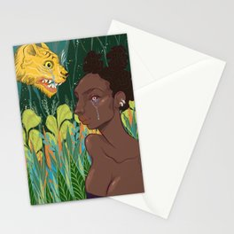 Rousseau Tiger Cries/Girl Cries Stationery Cards