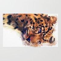 leopard Area & Throw Rugs featuring Leopard by jbjart