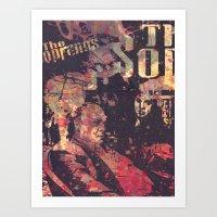 sopranos Art Prints featuring The Sopranos (in memory of James Gandolfini)1 by Nechifor Ionut