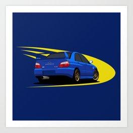 Impreza WRX STI Art Print