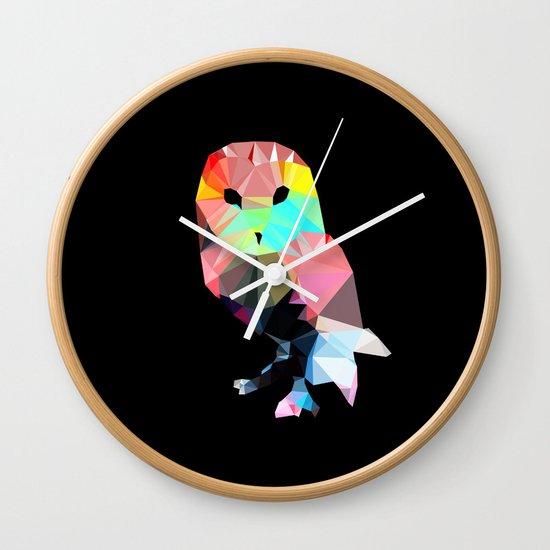 Crystal Owl Wall Clock