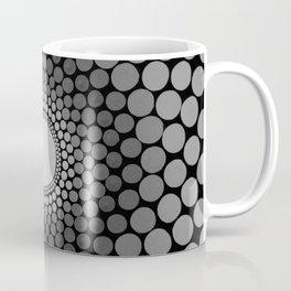 Shades of grey vortex dot-painting Coffee Mug