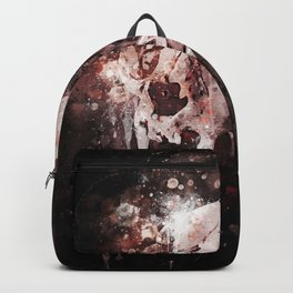 Tattoo cat skull watercolor painting | Original Design Backpack