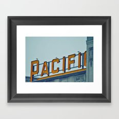 Pacific Central Framed Art Print