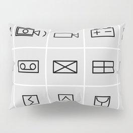 icons electrical symbols Pillow Sham