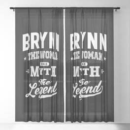 Brynn Personalized Name Birthday Gift Sheer Curtain
