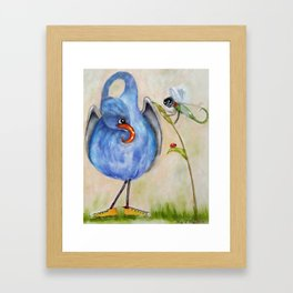 Gourd Bird & Dragonfly Framed Art Print