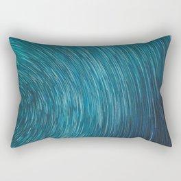 Abstract blue starry sky Rectangular Pillow