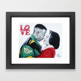Black Love - Martin & Gina Framed Art Print