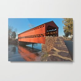 Sachs Covered Bridge Metal Print