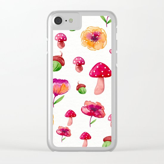 Botanical garden - watercolor Clear iPhone Case