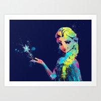 elsa Art Prints featuring Elsa by lauramaahs