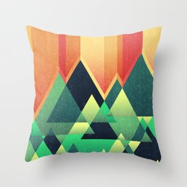 Summer Mountains Throw Pillow