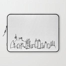 Barcelona Skyline in one draw Laptop Sleeve