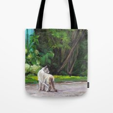 What the Cat Sees By the Hot Glass Studio Hydrangea Tote Bag